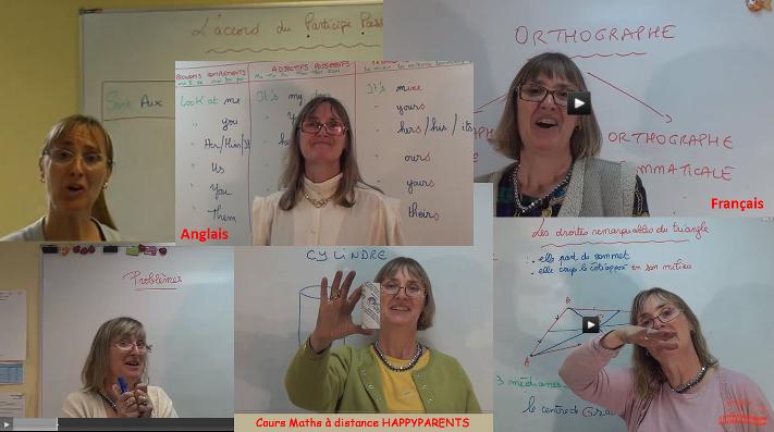 Ecole en ligne de Bernadette Maths Français Anglais